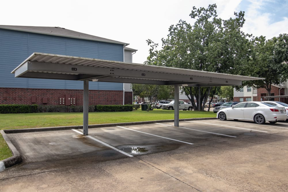 Covered parking spaces at IMT At The Medical Center in Houston, Texas