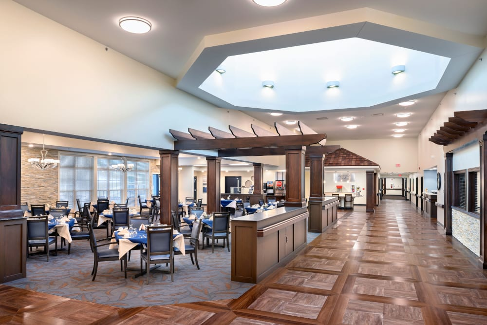 Eating area at Smith's Mill Health Campus
