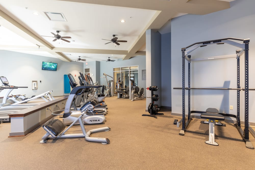 24-Hour Fitness Room │ Station 40 Apartments Nashville, TN