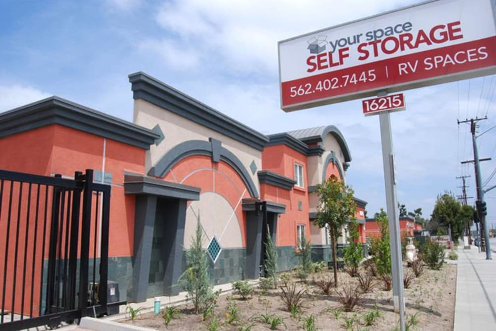 Exterior at Your Space Self Storage in Norwalk.