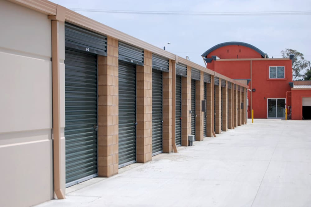 Exterior units at Your Space Self Storage in Norwalk.