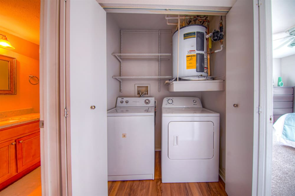 Washer and dryer at Hampton Point Apartment Homes in Silver Spring, Maryland