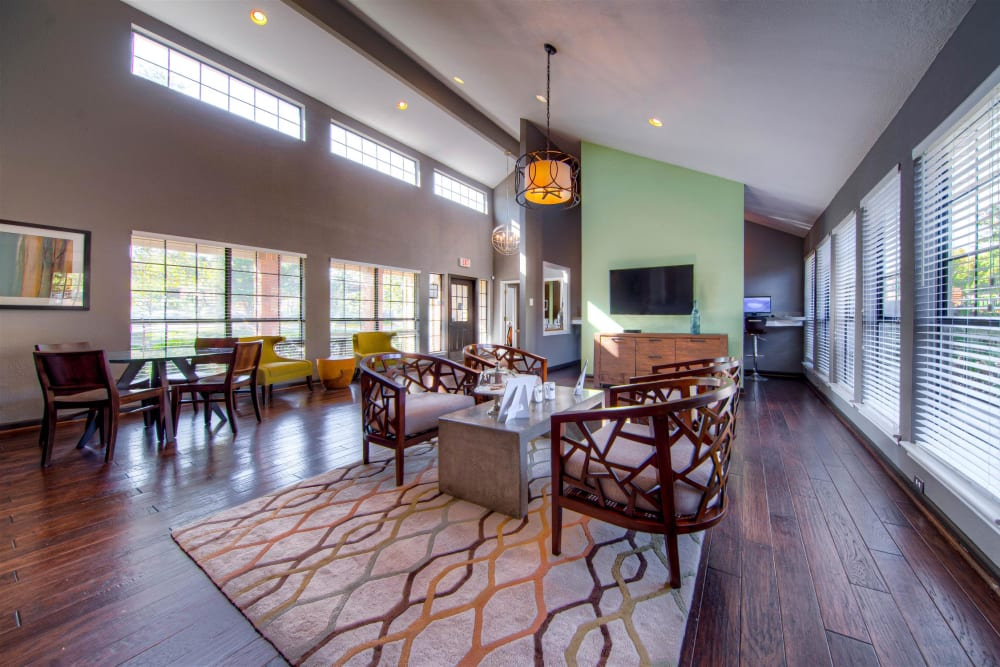 Luxury clubhouse at Hampton Point Apartment Homes in Silver Spring, Maryland