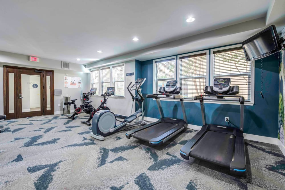 Apartments in Chatsworth - Sofi at Topanga Canyon Fitness Center With TV and Cardio Machines