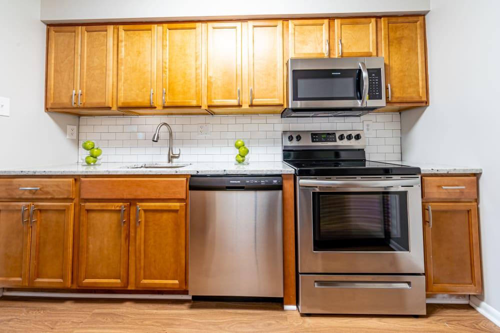 Smaller kitchen in Ramblewood Village Apartments Mount Laurel, New Jersey