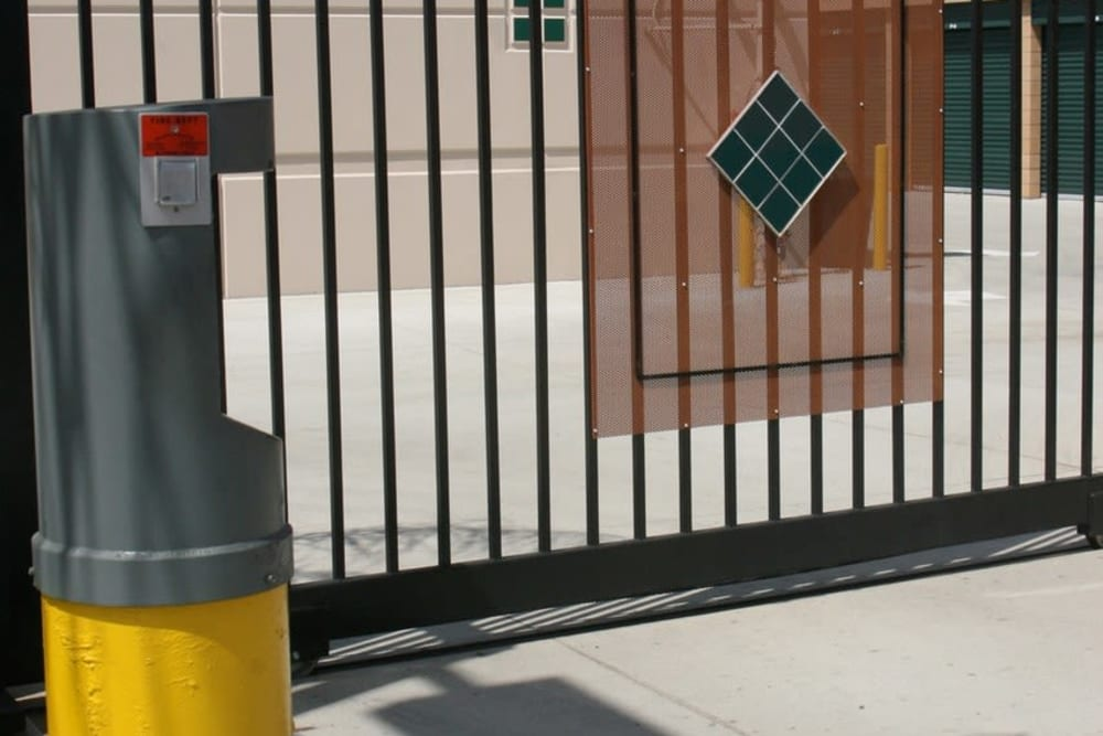 Security gate at Your Space Self Storage in Norwalk.