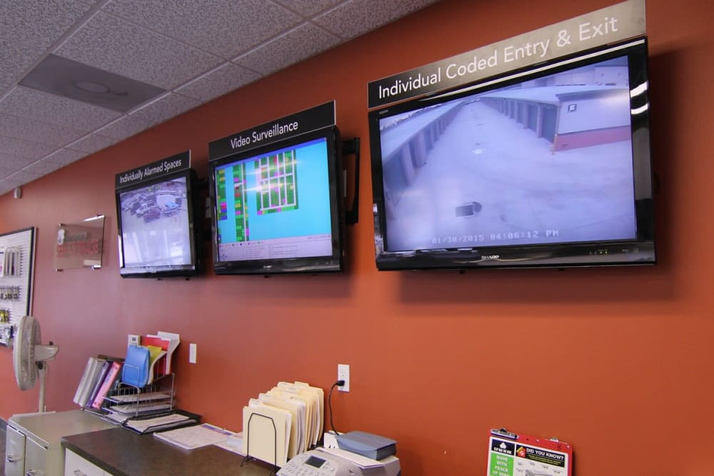 monitors at Your Space Self Storage in Norwalk.
