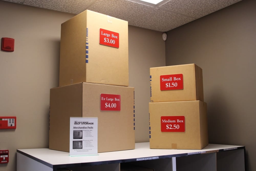 Moving boxes at Your Space Self Storage in Norwalk.