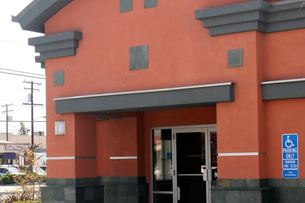 Side of building at Your Space Self Storage in Norwalk.