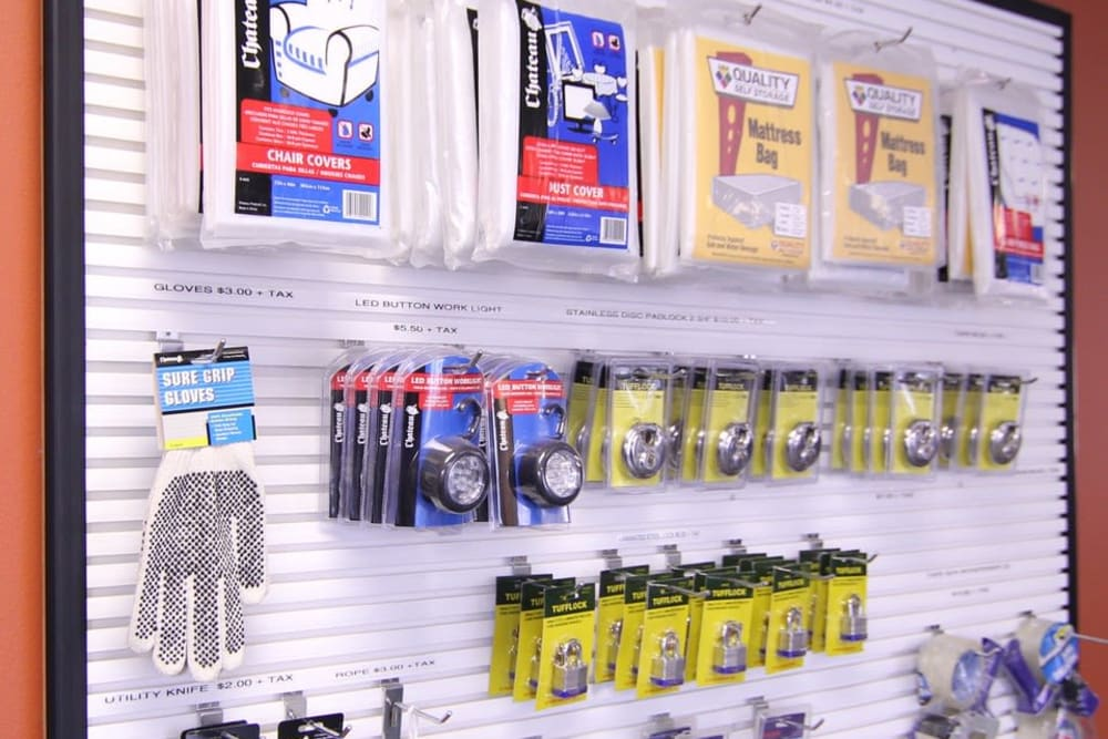 Packing supplies at Your Space Self Storage in Norwalk.