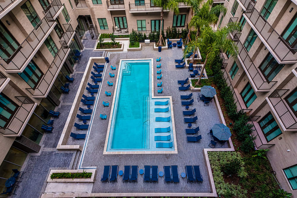 Pool at Canal1535 in New Orleans, Louisiana.