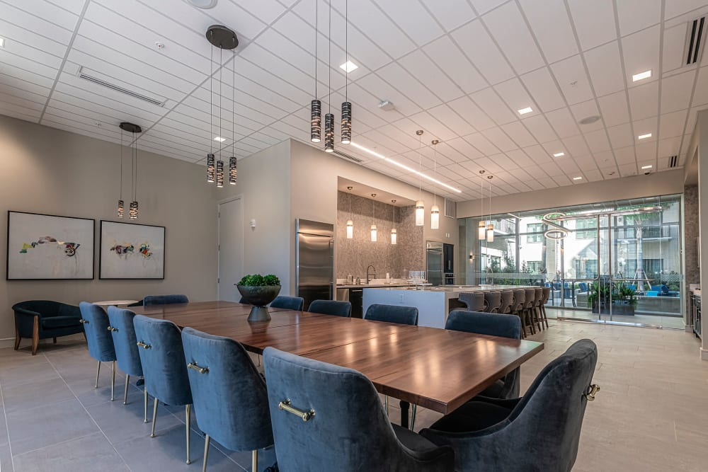 Meeting space with modern amenities  at Canal1535 in New Orleans, Louisiana.