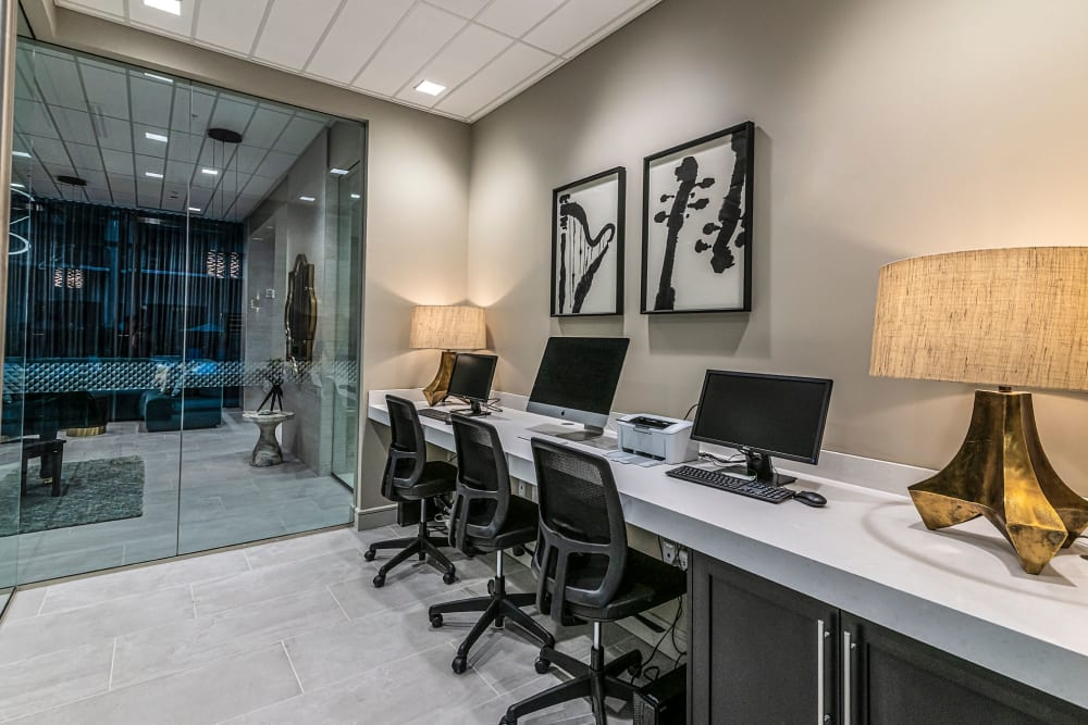 Business center at Canal1535 in New Orleans, Louisiana.