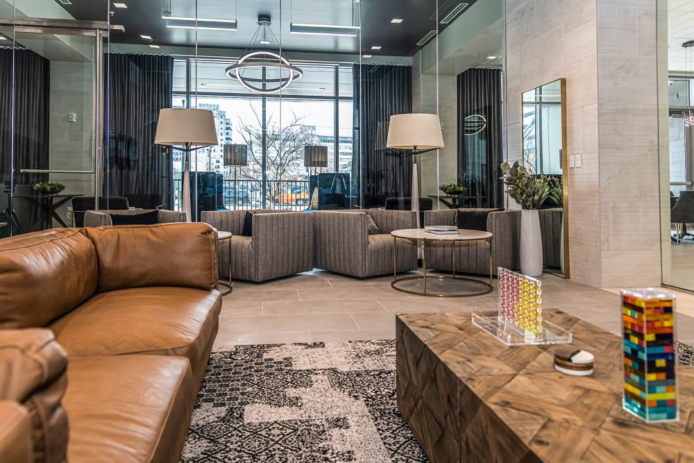Comfortable seating and community space at Canal1535 in New Orleans, Louisiana.