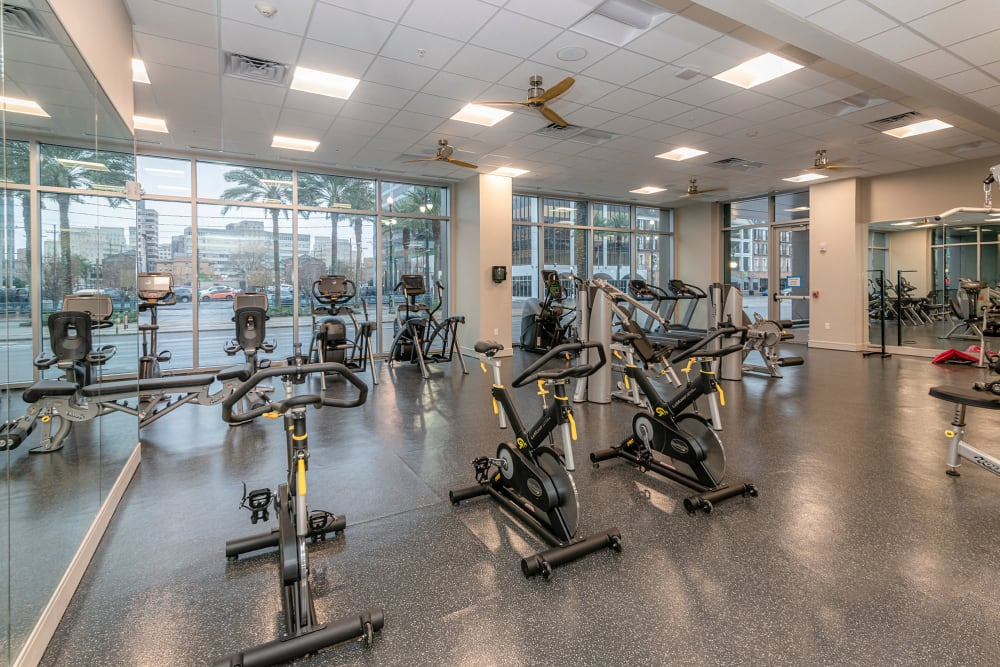 Fitness center at Canal1535 in New Orleans, Louisiana.
