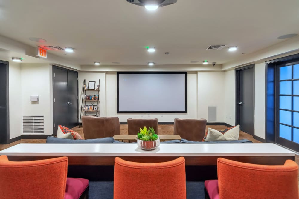 Cinema room at Arista at Ocotillo in Chandler, Arizona