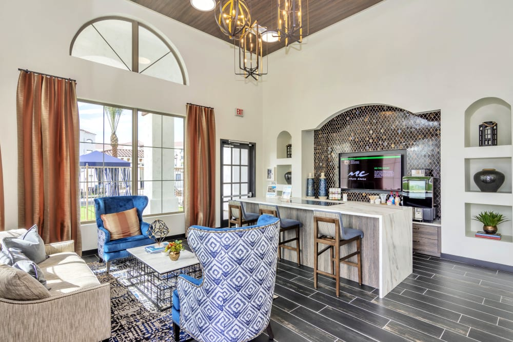 Resident clubhouse at Arista at Ocotillo in Chandler, Arizona