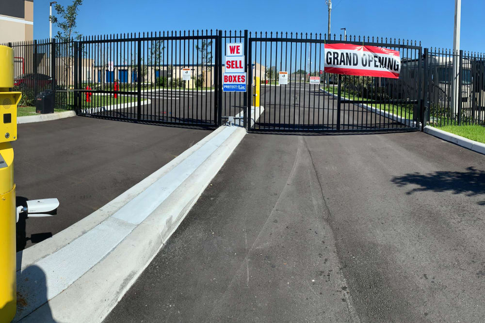 Security gates at Top Self Storage in Pompano Beach, Florida