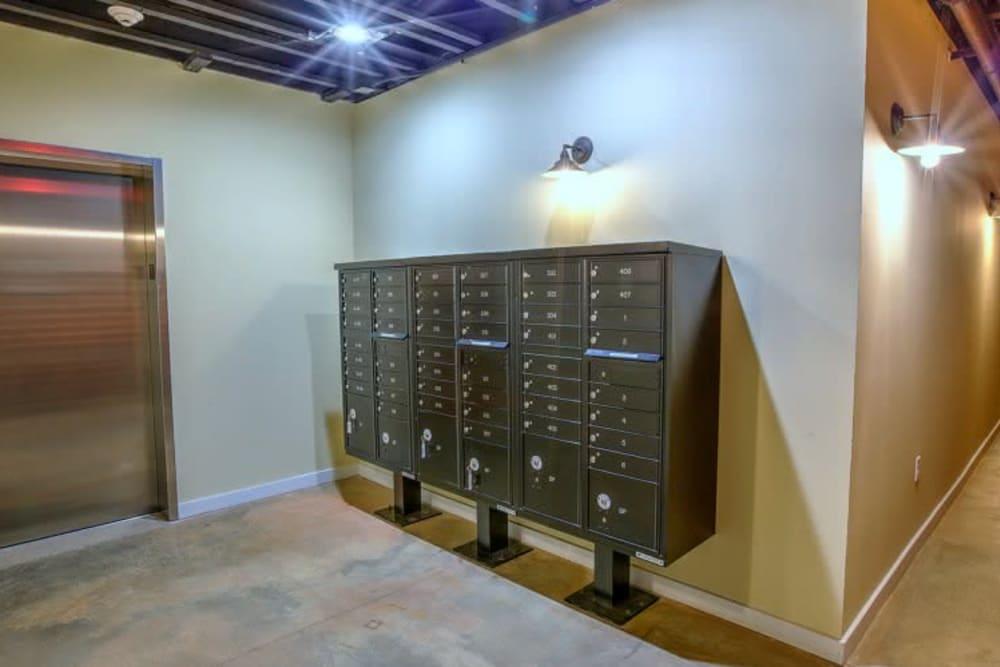 Mailboxes at Steelyard in St. Louis, Missouri
