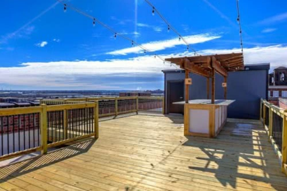 Rooftop lounge at Steelyard in St. Louis, Missouri