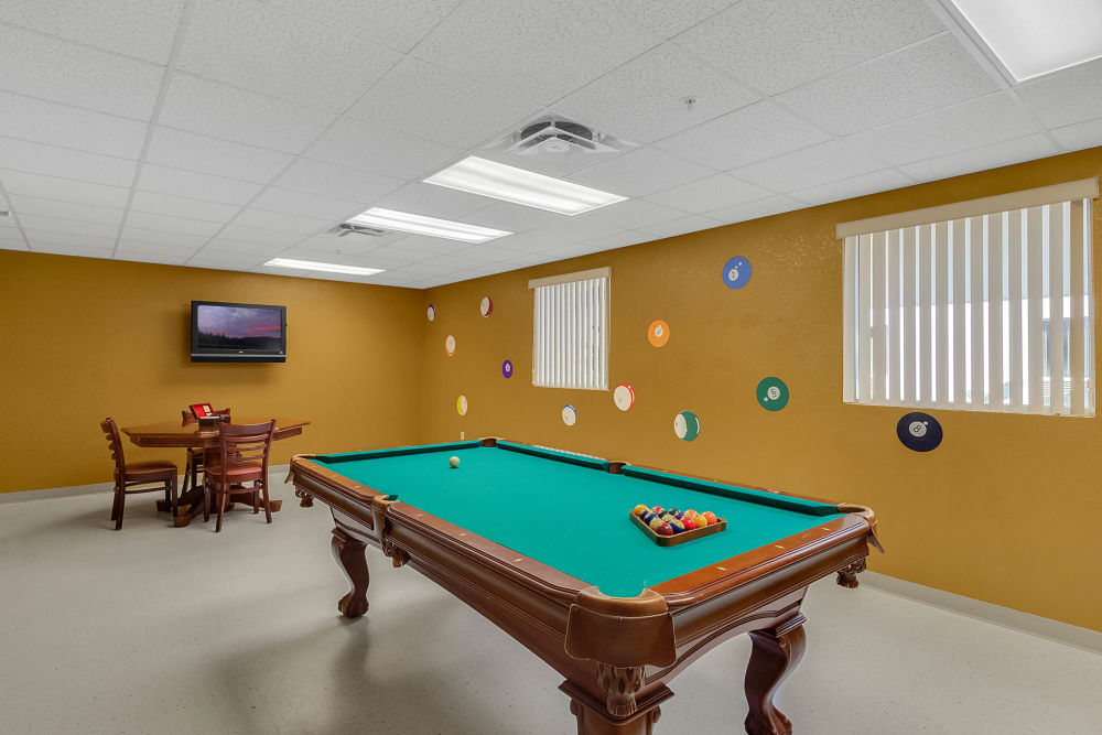 Pool room at {location_name}} in Lake Placid, Florida
