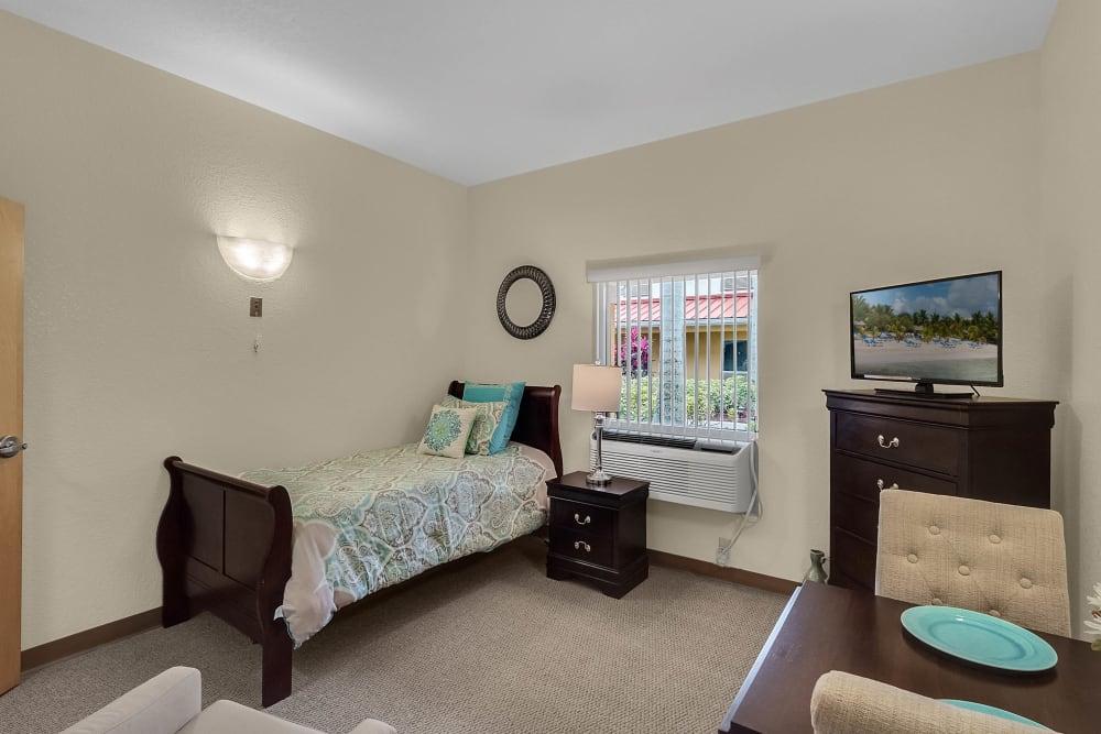 Model bedroom at {location_name}} in Lake Placid, Florida
