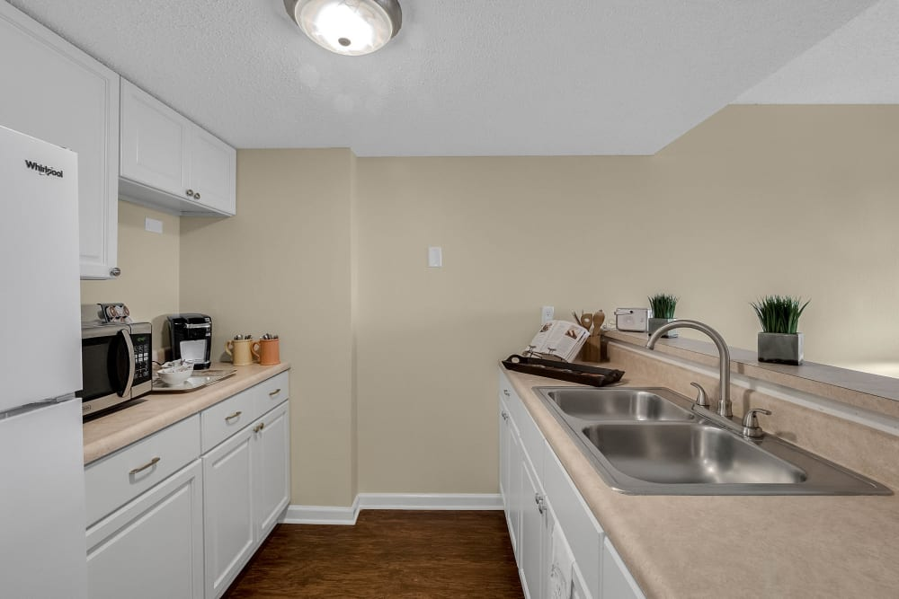Model kitchen at Lake Morton Plaza in Lakeland, Florida