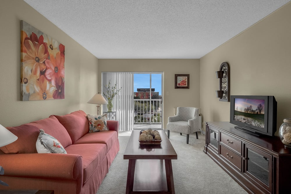 Model living room at Lake Morton Plaza in Lakeland, Florida