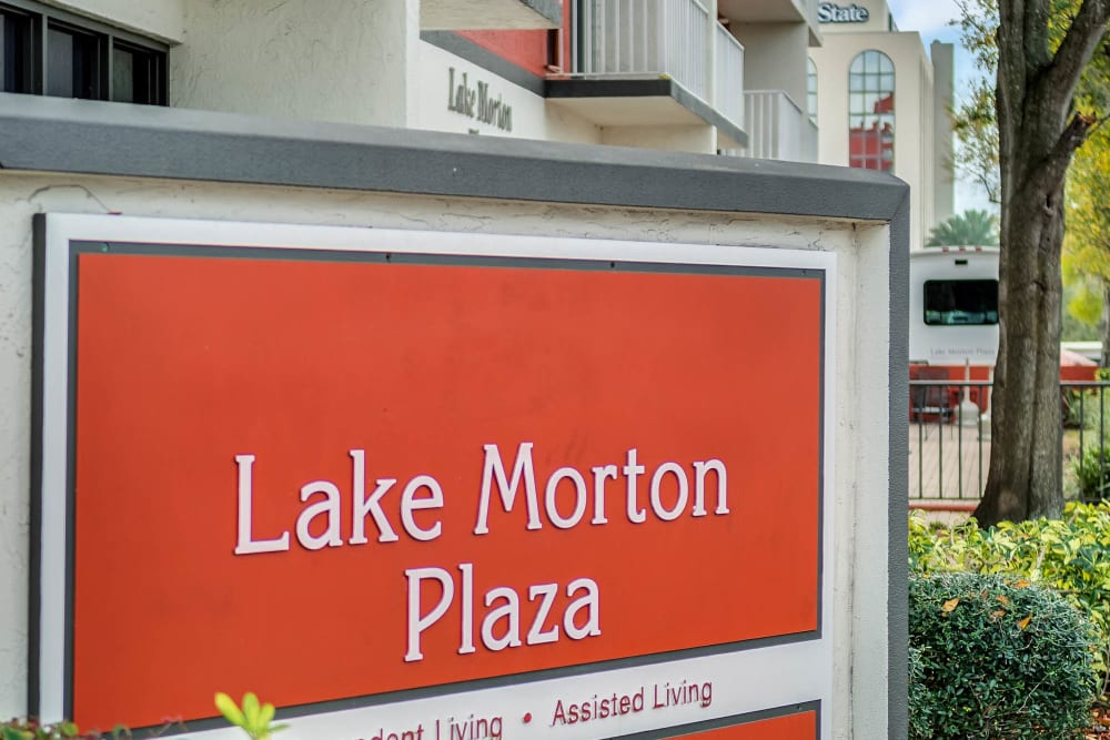 signage at Lake Morton Plaza in Lakeland, Florida