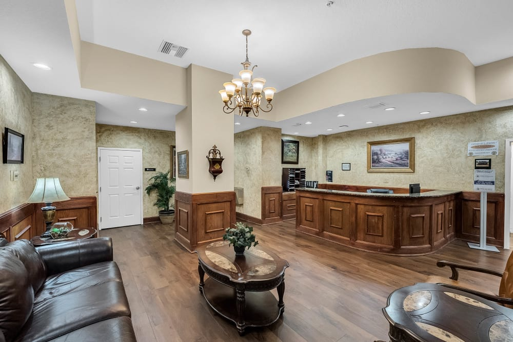 Model entry way at The Grande in Brooksville, Florida
