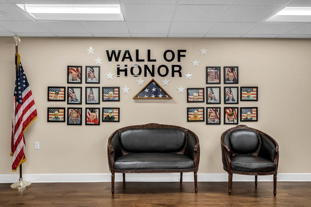 Wall of honor at {location_name}} in Brooksville, Florida