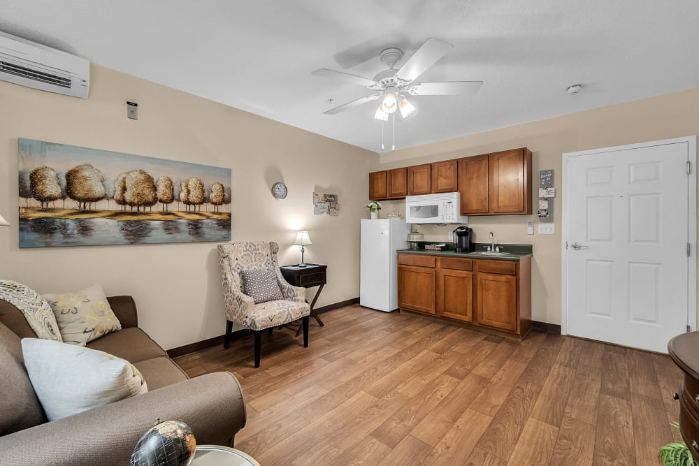 Model kitchen at {location_name}} in Brooksville, Florida