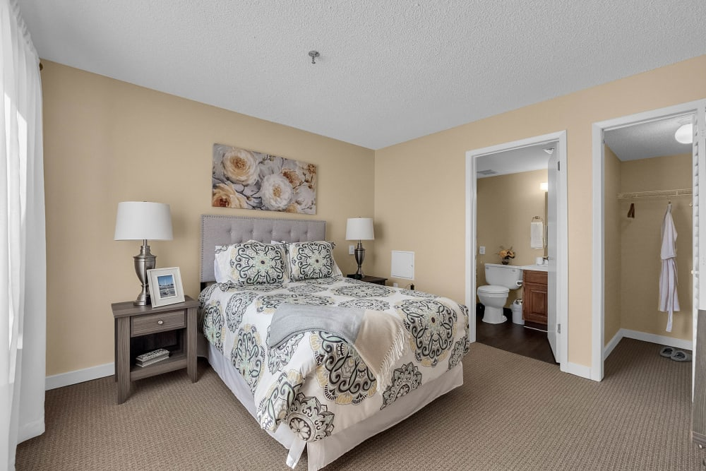 Model bedroom at Spring Haven in Winter Haven, Florida