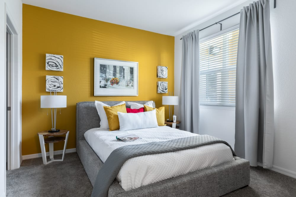 Our Beautiful Apartments in Riverview, Florida showcase a Bedroom