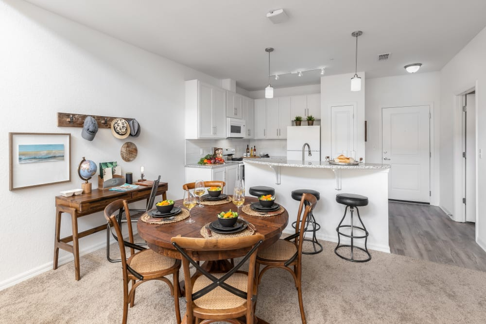 Open floor plan Beautiful Dining Room at Lola Apartments in Riverview, Florida