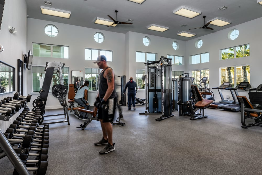 Modern Fitness Center at Lola Apartments in Riverview, Florida