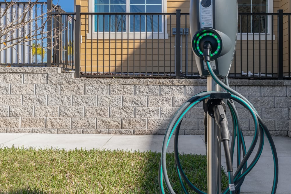 Electric vehicle charging station at Lola Apartments in Riverview, Florida