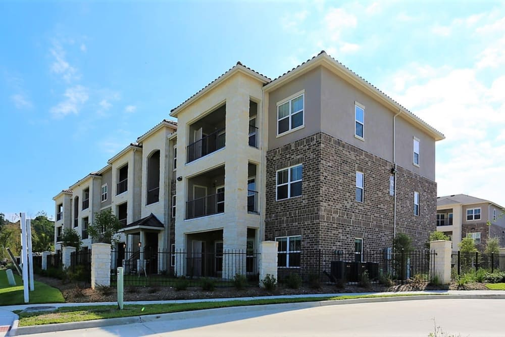 Beautiful modern exterior at Trails at Lake Houston in Houston, Texas