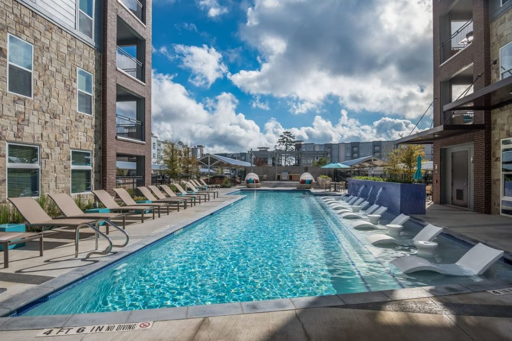 Swimming pool at Enclave at Woodland Lakes in Conroe, Texas