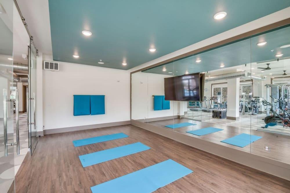 Yoga studio at Enclave at Woodland Lakes in Conroe, Texas