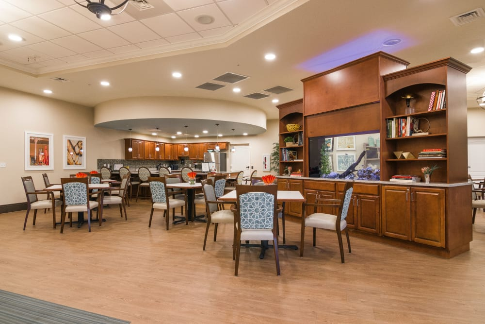 Resident dining area at CERTUS Premier Memory Care Living in Orange City, Florida.