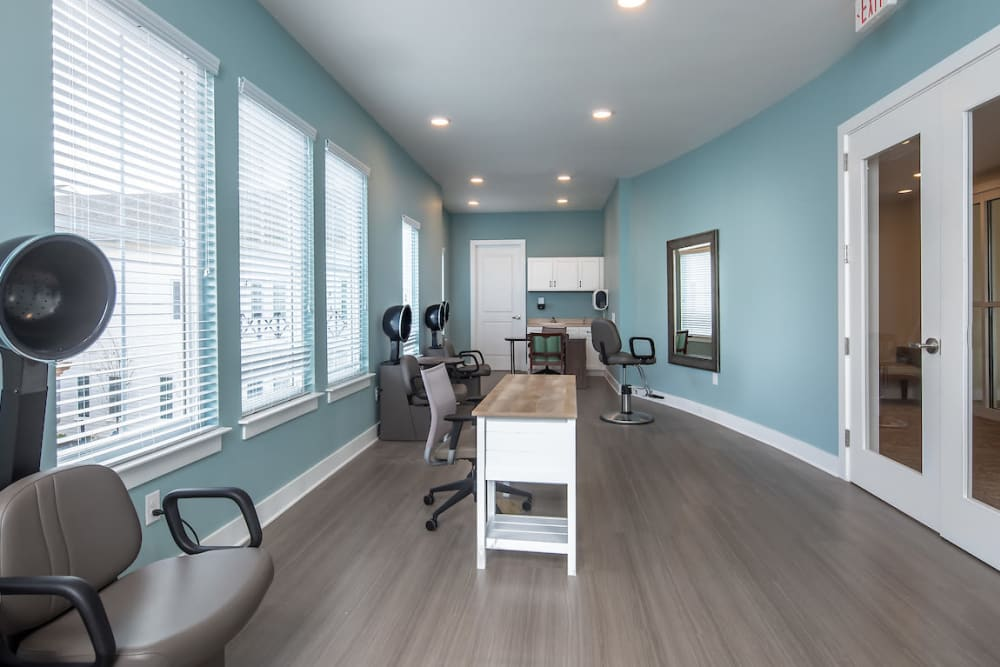 Onsite salon at The Claiborne at Gulfport Highlands in Gulfport, Mississippi.