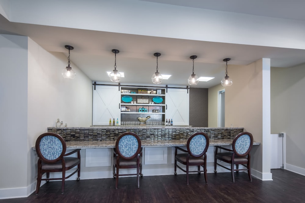 Resident bistro at The Claiborne at Shoe Creek in Baton Rouge, Louisiana.