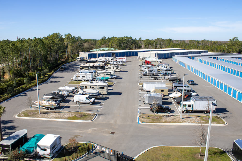 Vehicle parking at Atlantic Self Storage