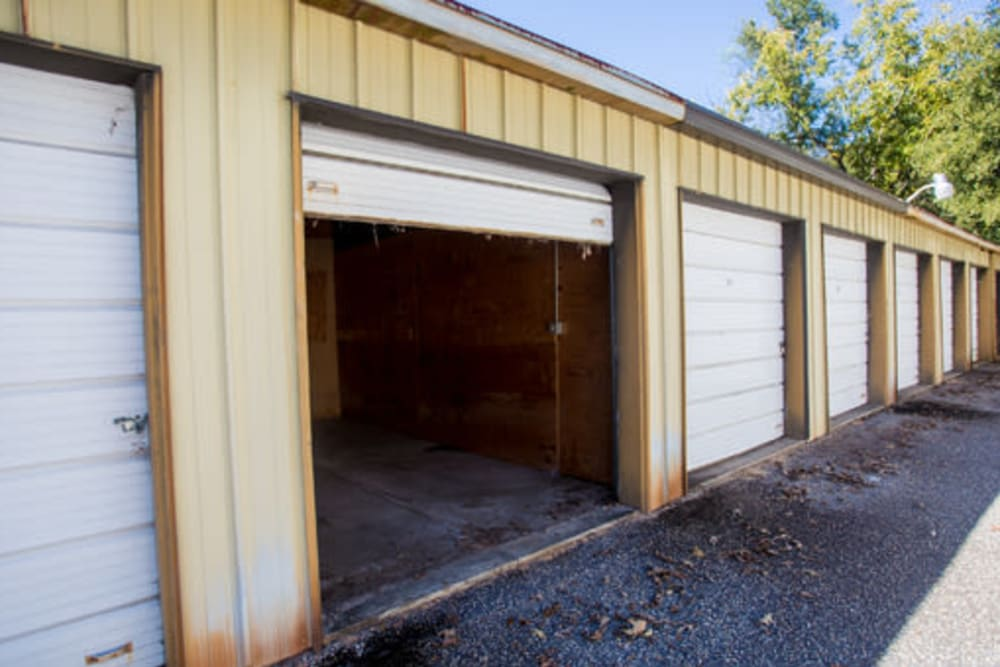 Roll-up doors at StayLock Storage in Hartsville, South Carolina