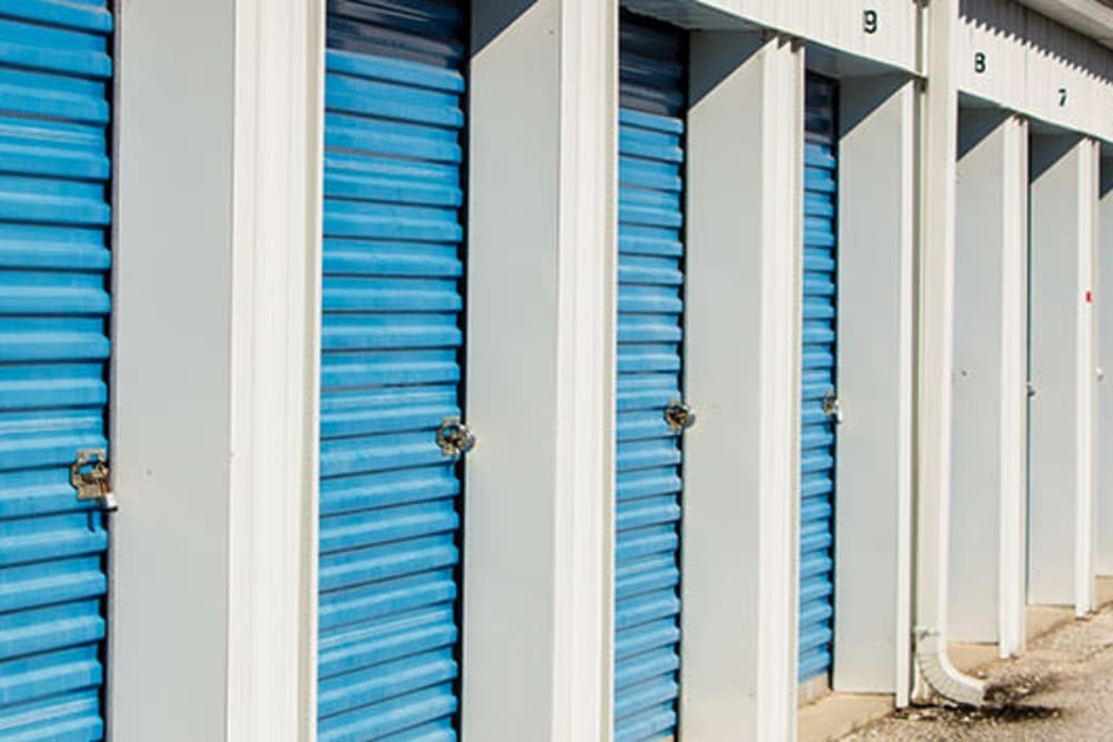 Row of storage units at StayLock Storage in Hartsville, South Carolina