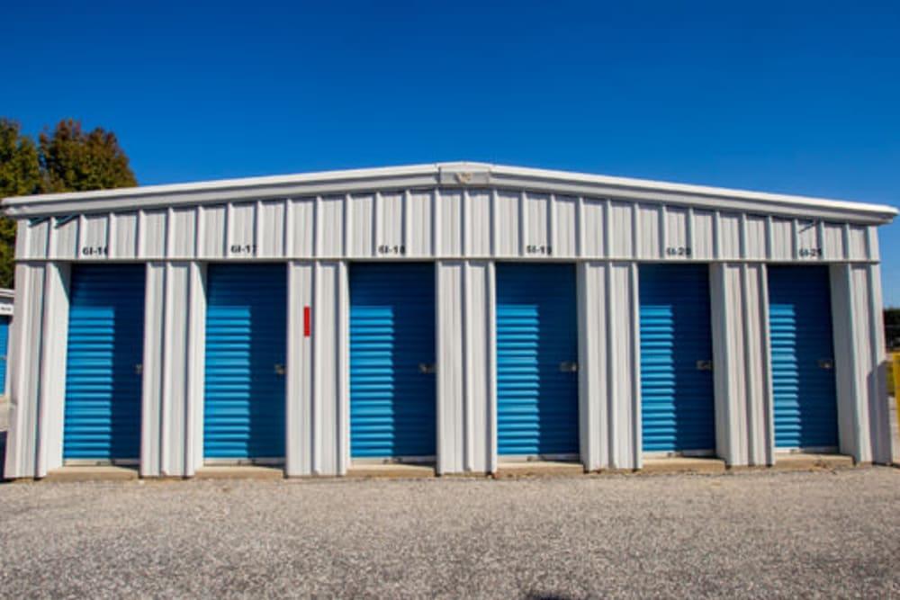 A variety of self storage units at StayLock Storage in Hartsville, South Carolina