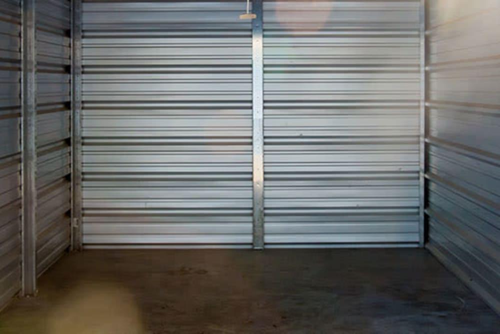 Inside a storage unit at StayLock Storage in Hartsville, South Carolina