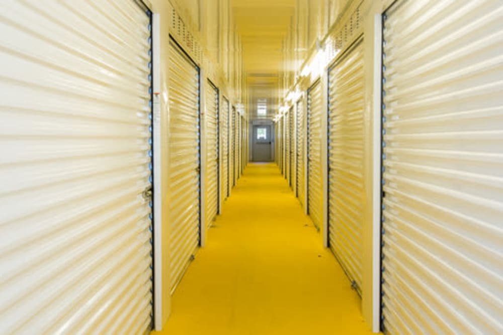 Cliamate-controlled self storage units at StayLock Storage in Hartsville, South Carolina