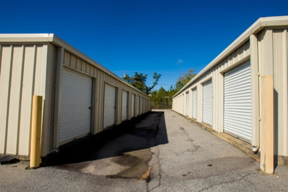 A variety of self storage units at StayLock Storage in Camden, South Carolina